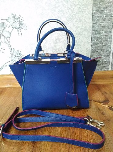 сумка-жен в Кыргызстан: Небольшая женская кожаная сумка FENDI на 1 отделение  Размер: длина -