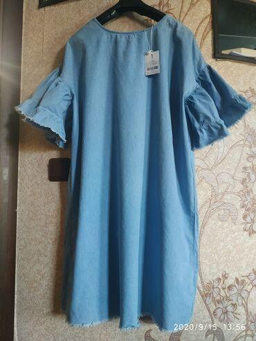 НОВАЯ туника платье, хлопок 100%, разм 50 полноценный, длина 89 см -