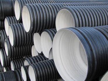 Шланги и насосы в Кыргызстан: Труба гофрированная канализационный труба   от 110 до 500 мм. Гарантир