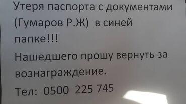 445 объявлений: Потеряна папка с документами на имя Гумарова Рафика