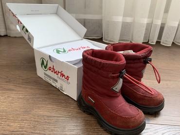 Детская обувь - Бишкек: Зимние ботинки на девочку, 22 размер.Итальянская фирма