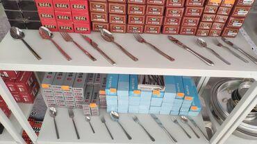 Ложки - Кыргызстан: Турецкие столовые приборы (вилки, ложки ножи) для кафе, столовых и