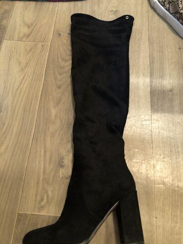 Замшевые сапоги 36 размера, одета 3-4 раза