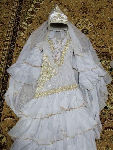 золотое платье в пол в Кыргызстан: Продаю почти новое национальное платье индивидуального пошива, оно