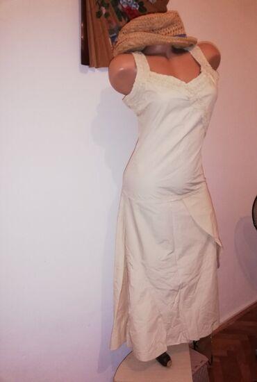 Pamucna krem haljina, kupljena u Mangu, malo nosena, kao nova. Duzina