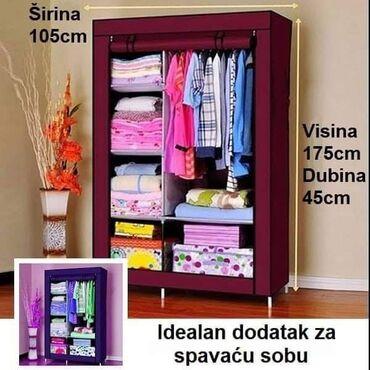 Prenosivi garderober dimenzije: 167cm visina100cm sirina42cm dubina