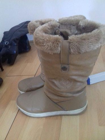 Zimske cizmice postaljene krznom br - Srbija: Zenske sandale br 39 ocuvane,cizmice crne duboke br 39 ocuvane
