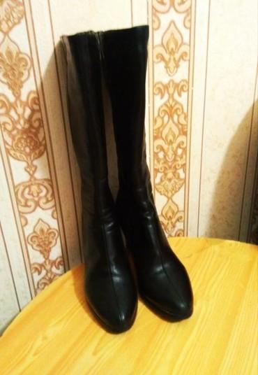Зимние сапоги, 37 размер,для узких ног, надето пару раз, кож зам