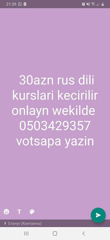 reqs-dersleri - Azərbaycan: 30azn Onlayn wekilde rus dili dersleri