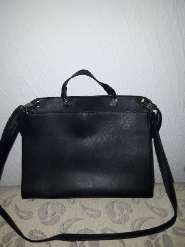 Putna-torba - Srbija: Crna KOZNA torba. par puta nosena