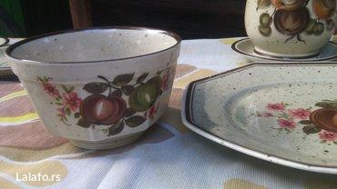 Prelep set šoljice, posuda za mlekooo (može biti i čajnik)  - Cuprija - slika 8
