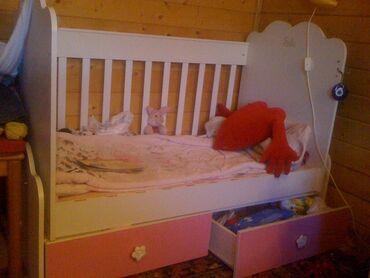 """Турецкая детская кроватка розово-белого цвета """"BELIS""""очень"""