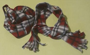 Dečija odeća i obuća - Cacak: Kapa i šal karirani veličina 2-4 godine za topli, mekani, dužina šala