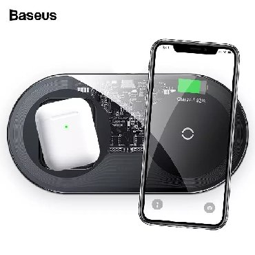 универсальное зарядное в Азербайджан: Original Baseus wireless adapter.Eyni anda hem telefona hemde apple