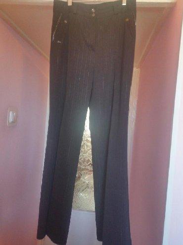 женские-брюки-черные в Кыргызстан: Женские брюки, классические, прямые, черные ( в слабую полоску, с