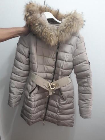 Zimske-jakne - Srbija: Zimska jakna zenska L velicina sa pravim krznom