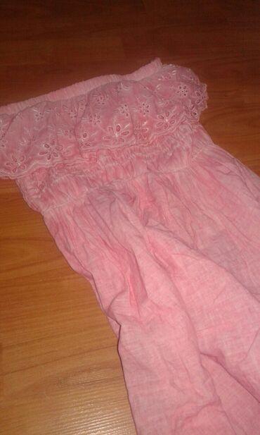 Duga top haljina,pamuk I cipka,prelepa vel m Cena 700