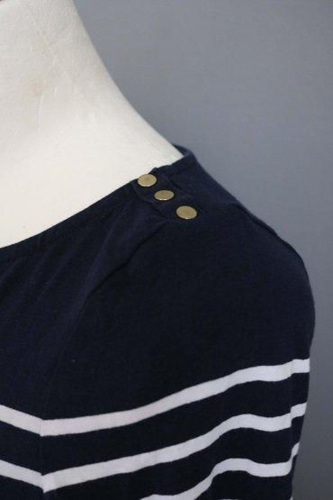 3ea1e80ffdbe H m ριγε πουλοβερ μαρινιερα σε λευκο-μπλε
