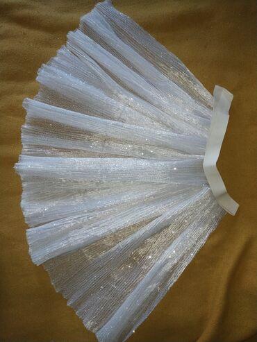Отрез ткани фатин гофре с блёстками с резинкой, выкроено на юбку пачку