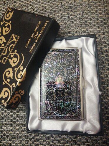 Lacoste - Srbija: Lacquerware inlaid with mother-of-pearl Kutija za vizit kartice sa ogl