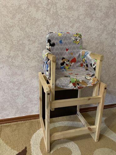 Продаётся деревянный детский стульчик, трансформер, б/у
