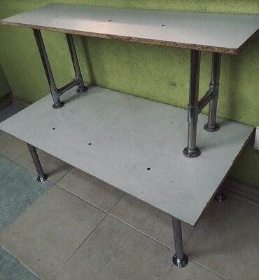 Полка-стеллаж двухъярусный, габариты 88*44*69(высота)см