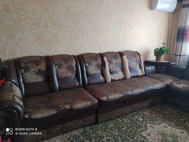 Мебель - Беловодское: Продаю диван с.БеловодскоеРаскладывается под двухспалку. Диван угловой