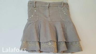 Suknjica za devojčice od sitnog somota sa prelepim vezom. - Nis