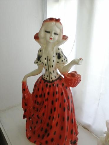 Кукла-сувенир из керамики. Длина- 90см, вес 18кг.Цена 30 манат.Seramik