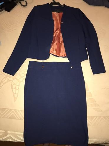 Продаю офисный женский костюм, юбка+жакет. Турция, размер M, состояние