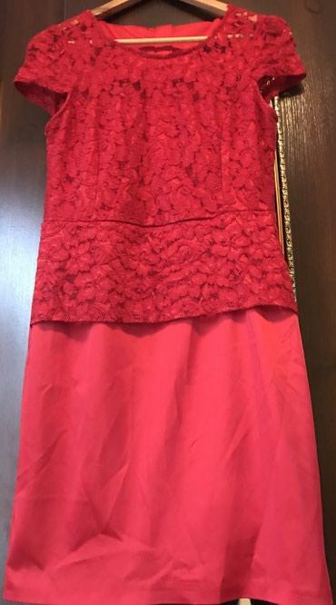 Красное женское платье с баской размер44 в Бишкек