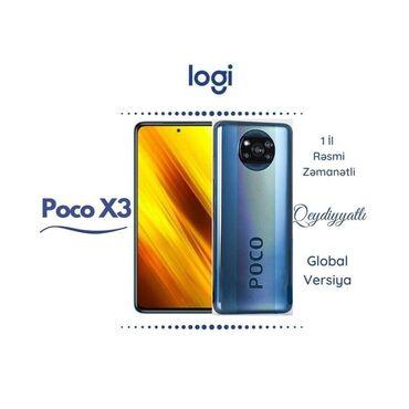 Мобильные телефоны и аксессуары - Азербайджан: Xiaomi Poco X3   128 ГБ   Синий   Новый   Гарантия, Сенсорный, Отпечаток пальца