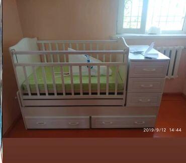 детские 2х ярусные кровати фото и цены in Кыргызстан   ДРУГИЕ ТОВАРЫ ДЛЯ ДЕТЕЙ: Кроватка трансформер/маятник, люлька для ребёнка качается, цвет белый