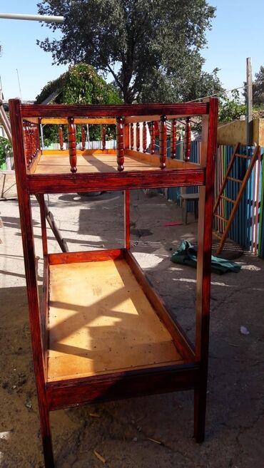 Двухъярусная детская деревянная кровать