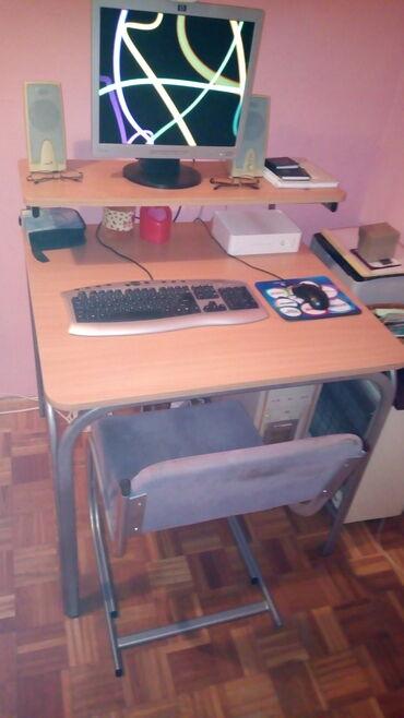 Kompjuter - Srbija: Prodajem kompjuterski sto i stolicu u odličnom stanju. Cena povoljna