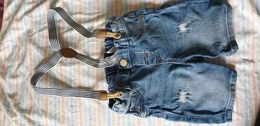 Pantalone berska - Srbija: Teksas bermude za decake sa tregerima HM