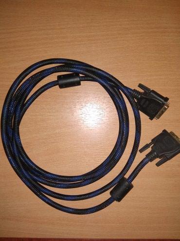 Dvi кабель 3 м в металической оплетке. новый. в Каракол