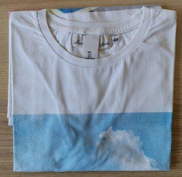 Prada-bele - Srbija: H&M bela majica sa printom, veličina XL - NOVOH& M majica