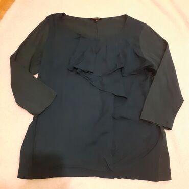 Massimo Dutti bluza za dame Bluza je u tamno tirkiznoj boji sa