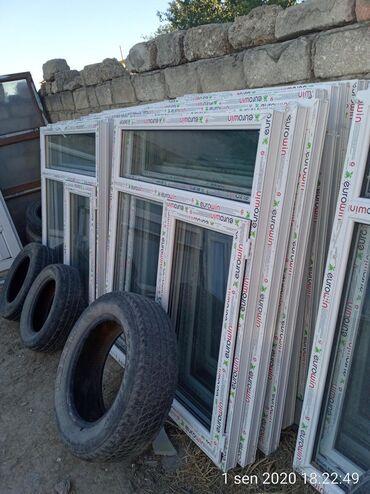 Pəncərələr - Azərbaycan: 1 metre eni 1.5 hundurluk 80 manat 1 ededi plastik pəncərələr