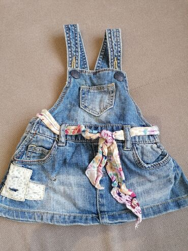 Teksas haljina na tregere ZARA, za uzrast 3-6 meseci, veličina 68
