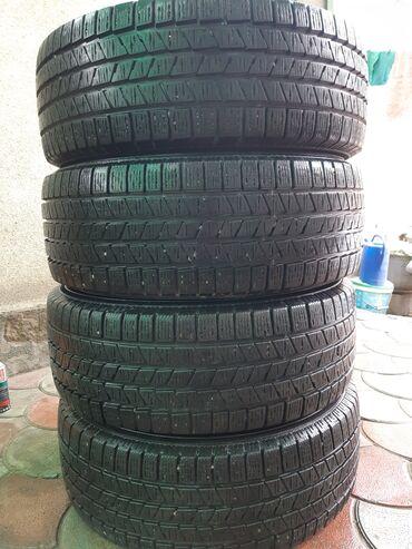 диски на камри 55 r17 в Кыргызстан: Продаю зимний комплект колес (4 шт) 235/55/18. без шишек и порезов