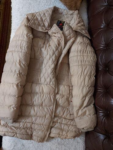 Krem zimska jakna postavljena,topla L vel