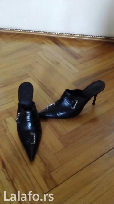 Kozne crne cipele, samo jedan put nosene, broj 37 - Belgrade