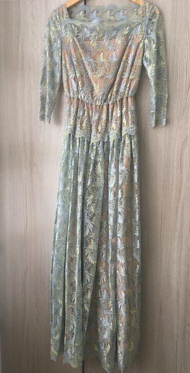 plate v sinyuyu kletku в Кыргызстан: Красивое вечернее платье,размер S,(Valentino реплика),брала за 7000