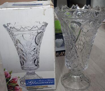 Продаю вазу стеклянную. Новая