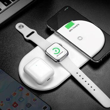 Enerjiyükləyicilər - Azərbaycan: Baseus smart 3in1 (üçü birində,3в1) wireless charger
