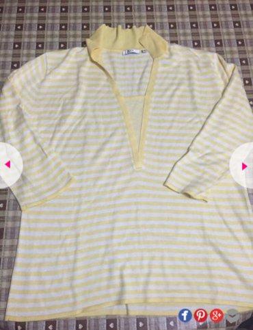 Belo zuta majica na 3/4 rukave vrlo prijatna velicina 42 nije nosena - Beograd
