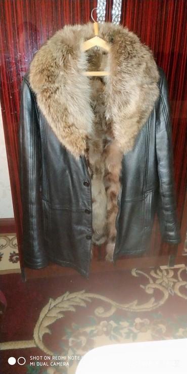 Мужская одежда - Кара-Суу: Натуральный кожа натуральный мех почти новый размер 50