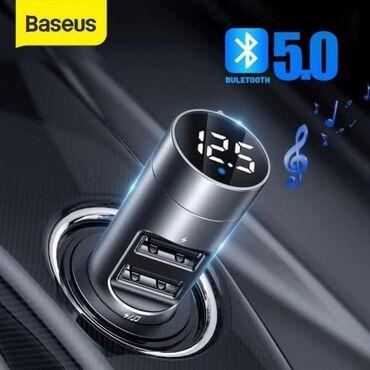 Baseus Energy Column Car Wireless MP3 Charger (Wireless 5.0+5V/3.1A)–